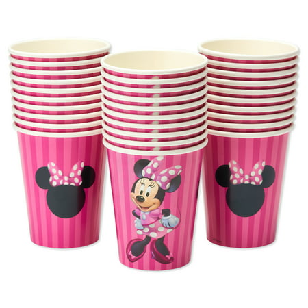 American Greetings Minnie Mouse 9 oz. Paper Cups, 30-Count (Minnie Mouse Birthday Party Ideas)