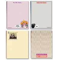 Funny To Do List Note Pad Assorted Pack - 4 Funny Notepads
