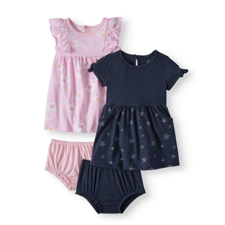 Knit Dresses, 2-pack (Baby Girls) - Frozen Dress For Babies