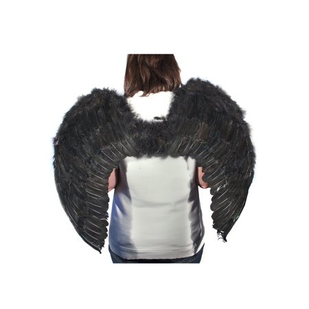 Black Feather Angel Wings - Black And White Angel Wings
