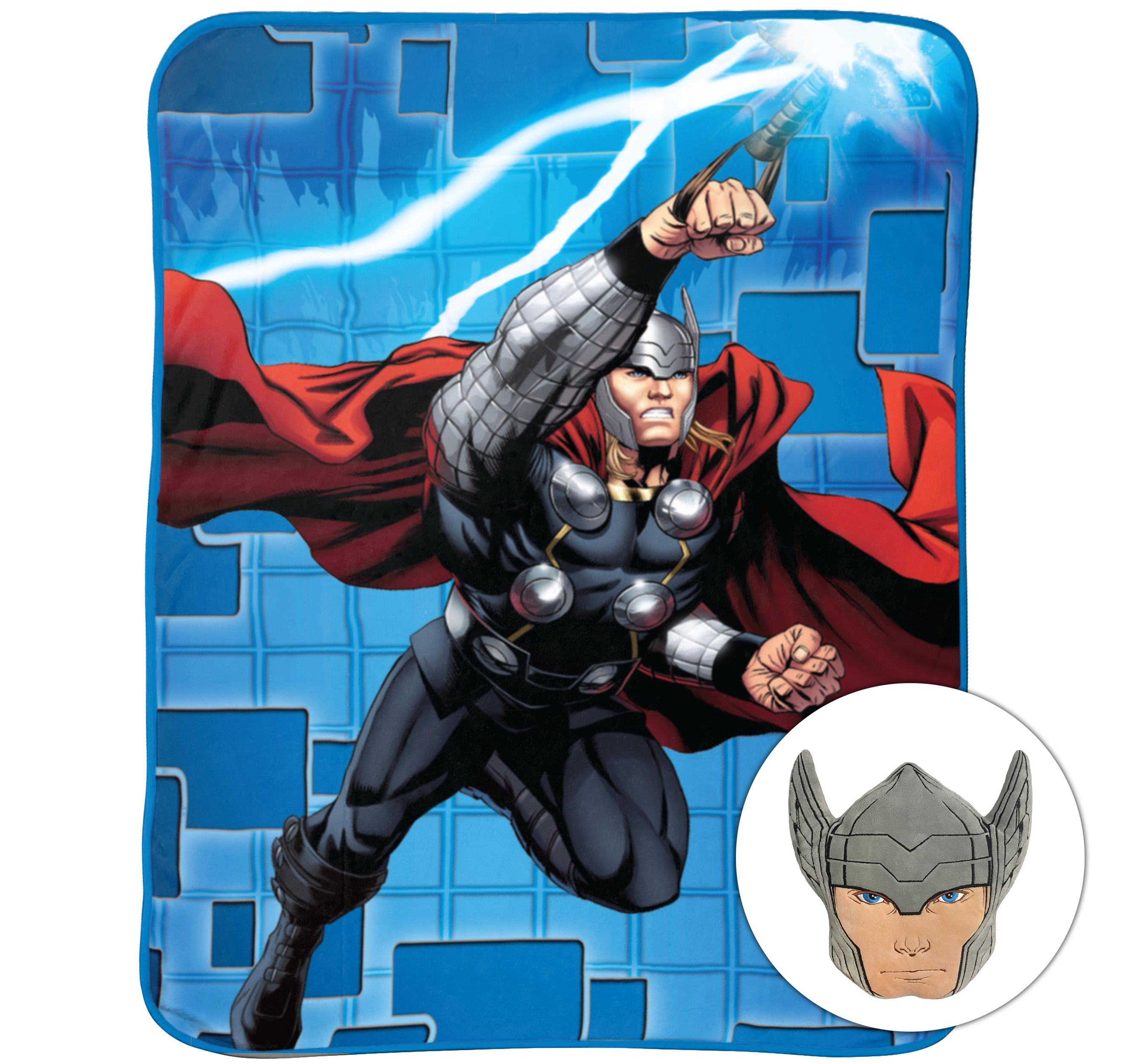 Marvel's Thor Noggin Pillow and Blanket Set, Kid's Bedding