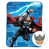 Marvel Kid's Bedding Thor Noggin Pillow and Blanket Set, 1 Each