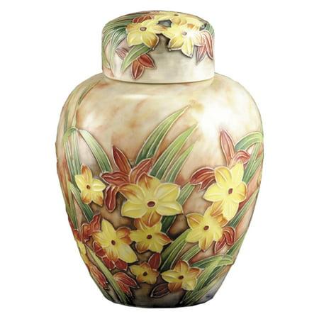 Springdale Lighting Springtime Hand Painted Porcelain Jar