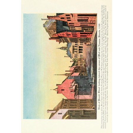 Book Of New York 1922 View Of Broad Street Canvas Art   Unknown  24 X 36