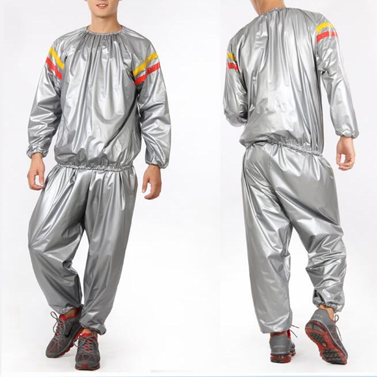 CAMTOA Heavy Duty Sauna Suit Clothes Exercise Gym Fitness Weight Loss Anti-Rip