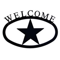 Village Wrought Iron WEL-45-S Small Welcome Sign-Plaque - Star