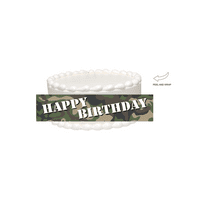 Military Camoflage Edible Cake Side Photo Image Decoration