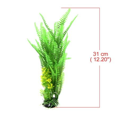 Green Plastic Leaves Plant Aquarium Tank Terrarium Landscaping Decor for Reptile - image 3 of 4