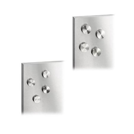 Blomus 66784  MURO Set of 4 Magnets Stainless Steel with anti-scratch base-25 cm