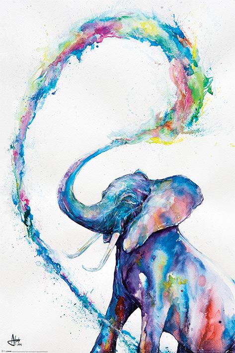 Elephant Watercolor Art Poster Print By Marc Allante Size 24 X 36 Walmart Com Walmart Com