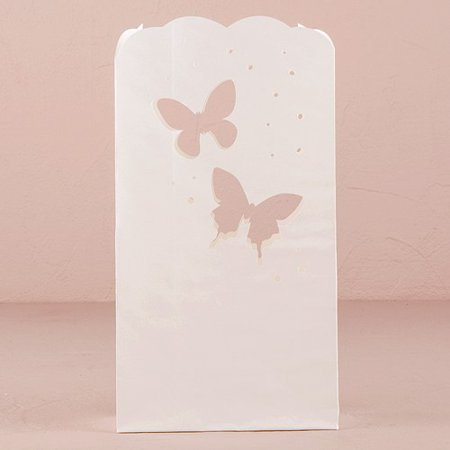 Wedding Luminary Bags With Die Cut Butterfly Pattern - Wedding Luminaries