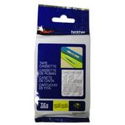 Brother Label Tape Cartridge, Label Type Indoor/Outdoor White/Clear PET TZe135