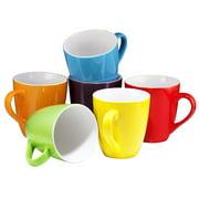 Coffee Mug Set Set of 6 Large-sized 16 Ounce Ceramic Coffee Mugs Restaurant Coffee Mugs By Bruntmor (Multi-Color)