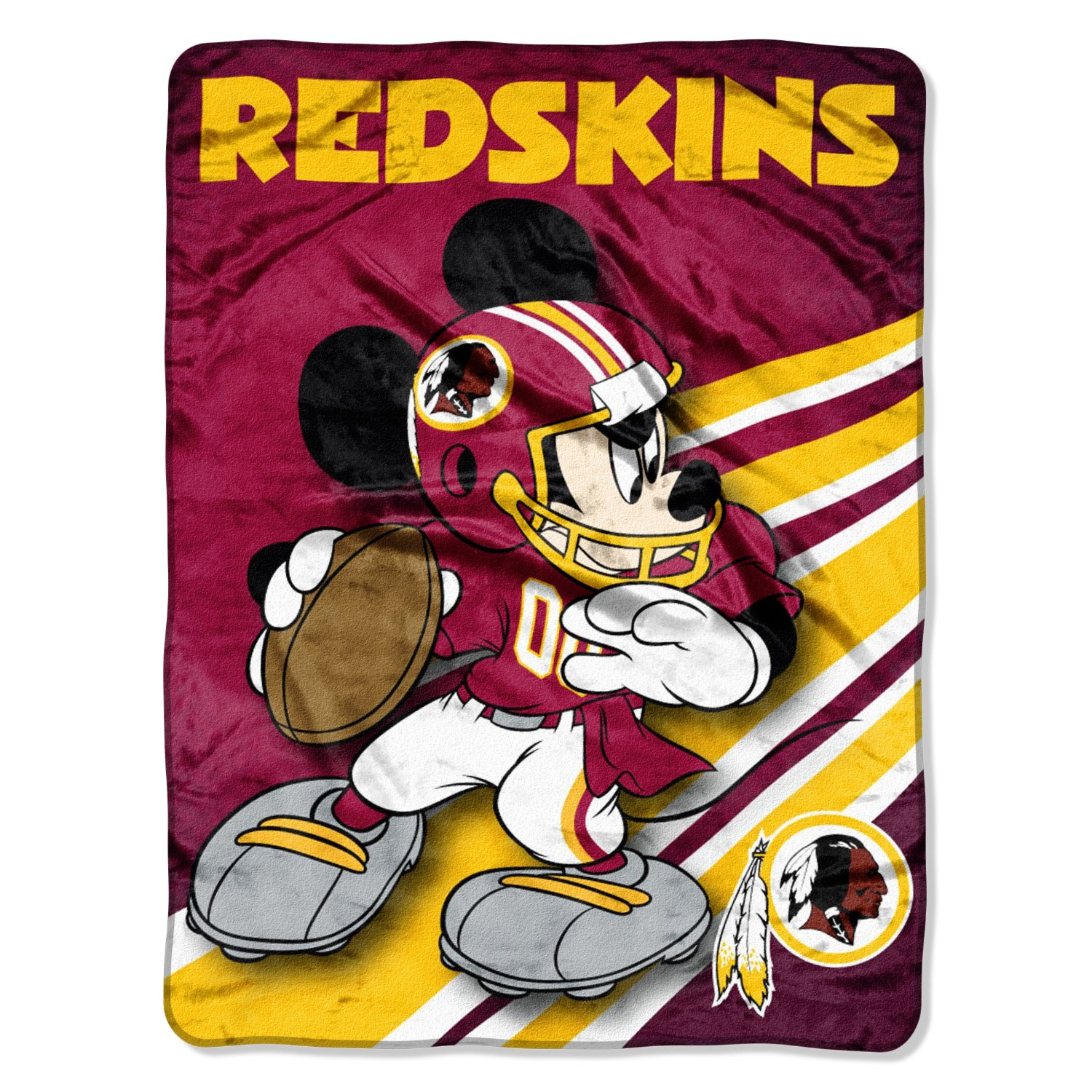 NFL Washington Redskins Mickey Mouse Ultra Plush Micro Super Soft Raschel Thr...