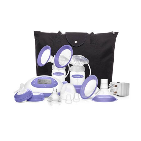 Lansinoh Signature Pro Portable Double Electric Breast Pump with LCD Screen and Adjustable Suction & Pumping Levels ()