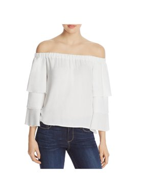 51bcf64544766 Product Image Ella Moss Womens Stella Tiered Off-The-Shoulder Casual Top