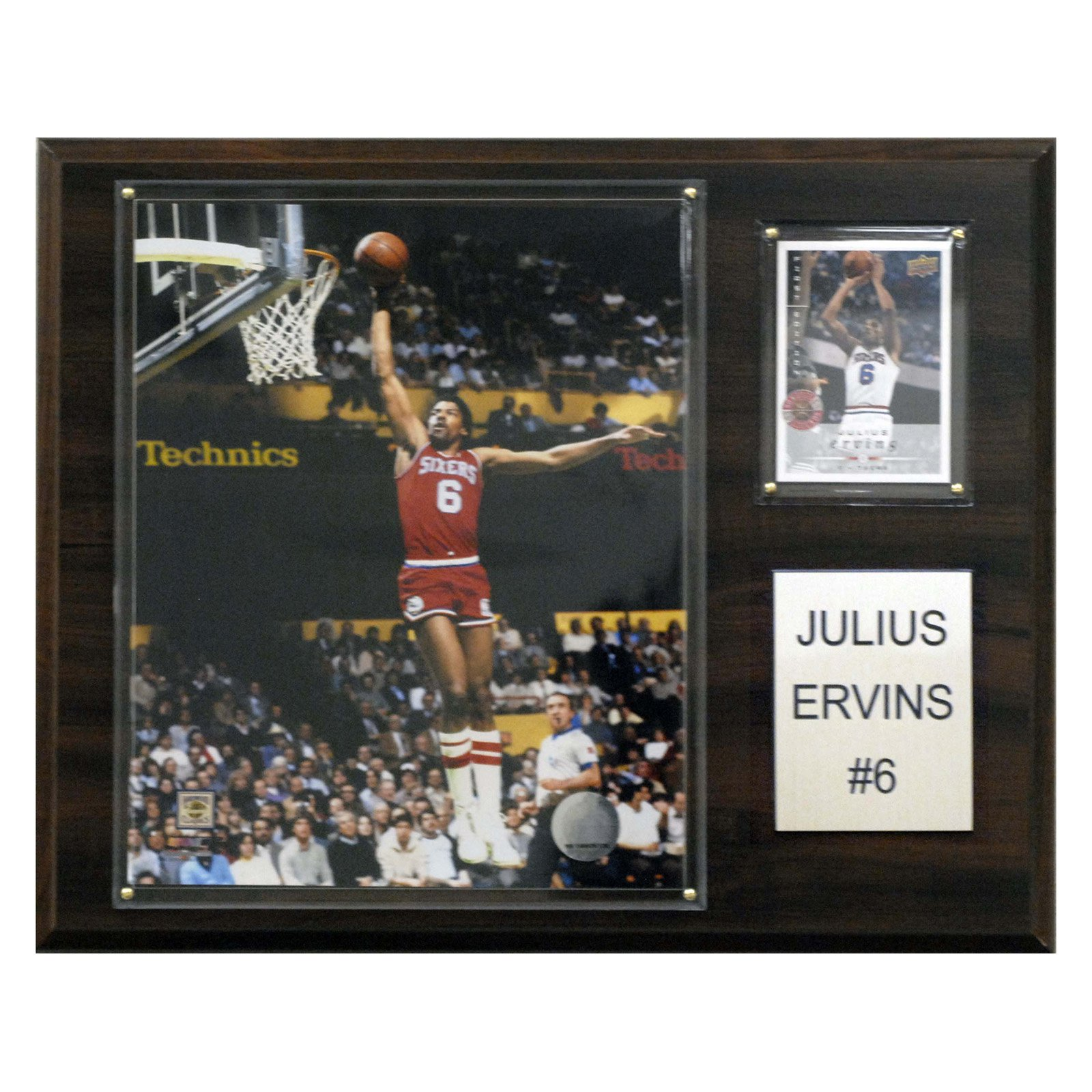 C&I Collectables NBA 12x15 Julius Erving Philadelphia 76ers Player Plaque