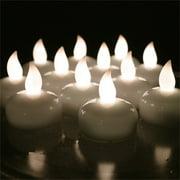 AGPtek 12pcs LED Floating Tea lights Waterproof Wedding Party Floral Decoration Flameless Candle Warm White