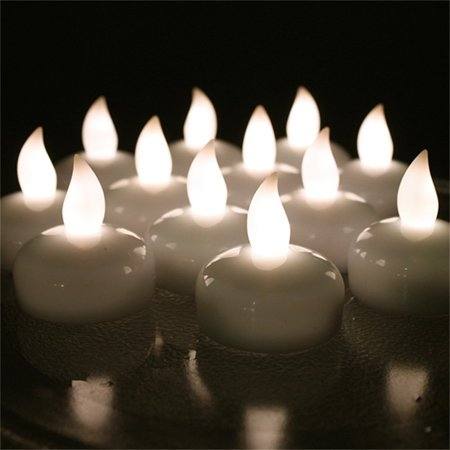 AGPtek 12pcs LED Floating Tea lights Waterproof Wedding Party Floral Decoration Flameless Candle Warm White