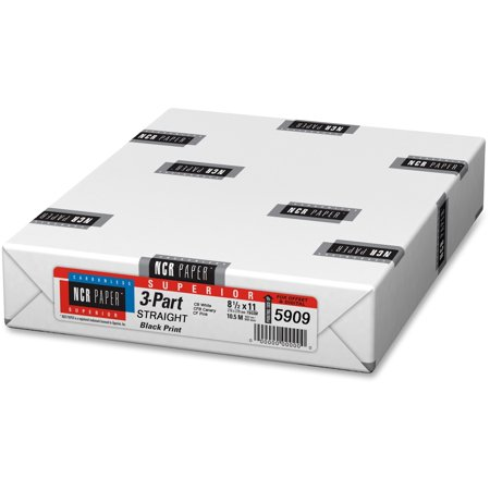 NCR Paper, NCR5909, Superior 3-part Straight Carbnlss Sheets, 500 / Pack, (Ncr Thermal Paper)