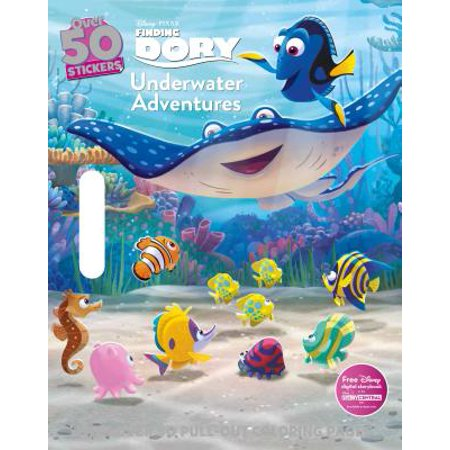 Disney Pixar Finding Dory Underwater Adventures Coloring Floor Pad - Printable Disney Halloween Coloring Pages