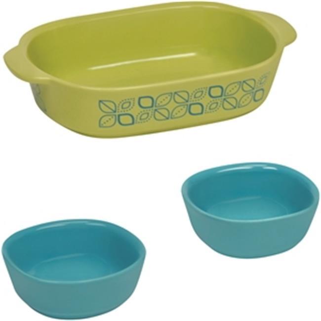World Kitchen 1118089 Bakeware Corningware Set, 3 Piece