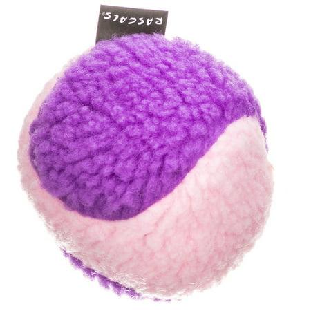 Fleece Squeaky Toy - Rascals Fleece Ball Dog Toy - Pink & Purple 4\