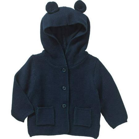 Newborn Baby Boys' Bear Ear Hooded Cardigan
