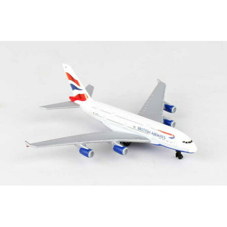 Models Air Dam (British Airways A380 AirBus Single Plane, White - Daron RT6008 - Toy Model Plane Replica)