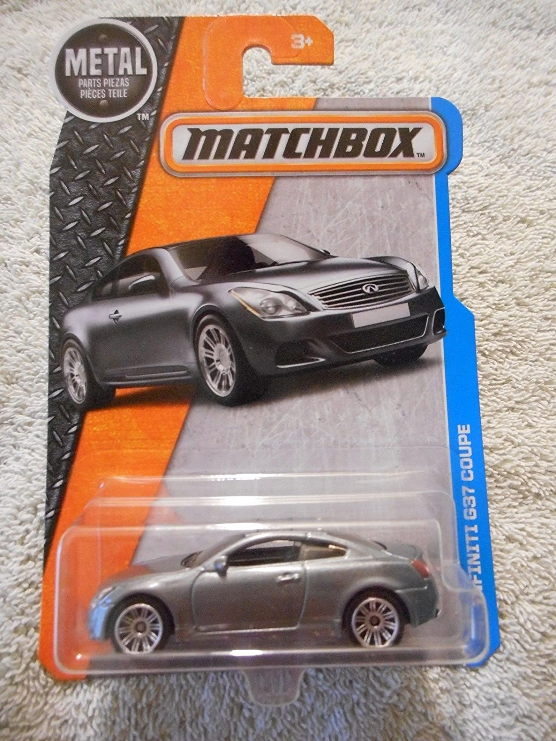 , 2016 MBX Adventure City, Infiniti G37 Coupe [Silver] #32 125 By Matchbox by