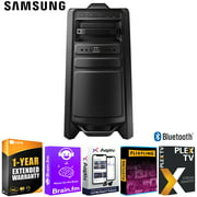 Samsung MX-T70 Giga Party Audio, High Power 1500W Speaker and Subwoofer Bundle with 1 Year Extended Warranty and Tech Smart USA Audio Entertainment Essentials Bundle 2020