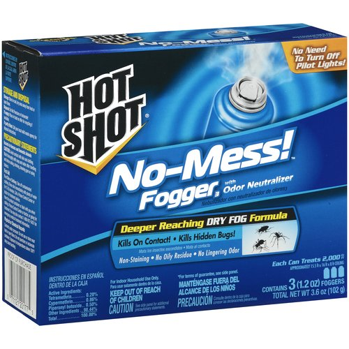 Hot Shot No-Mess Foggers With Odor Neutralizer, 1.2 oz