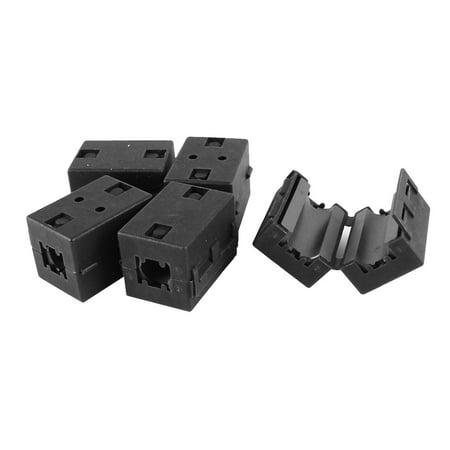 5 Pcs Black UF100 10mm Dia Cord Ferrite Core Noise Suppressor Filter - image 1 of 1