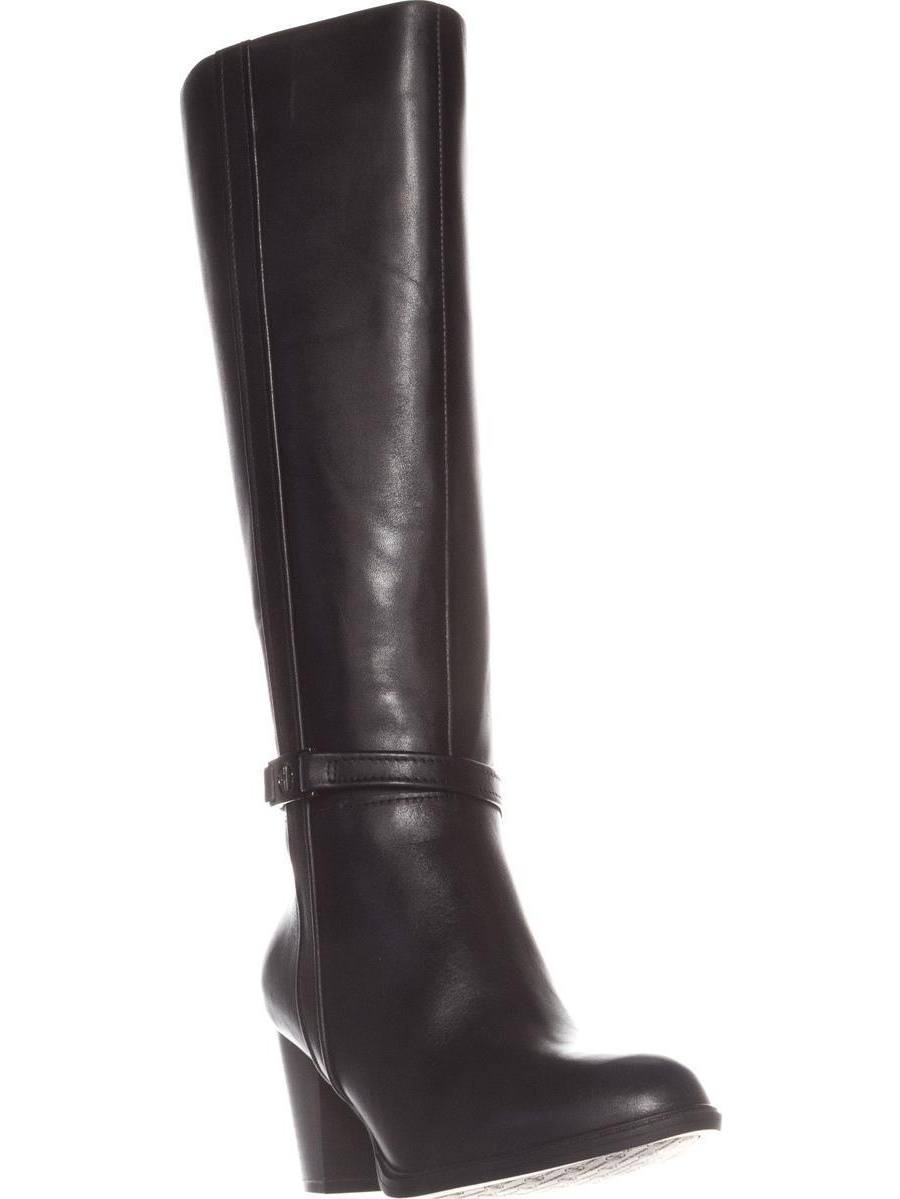 Womens GB35 Raiven2 Knee-High Dress Boots, Black Leather