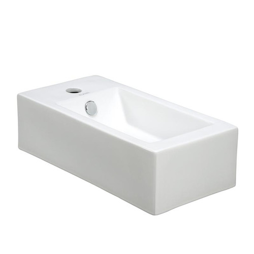 Elanti Ceramic 20'' Wall Mount Bathroom Sink with Overflow