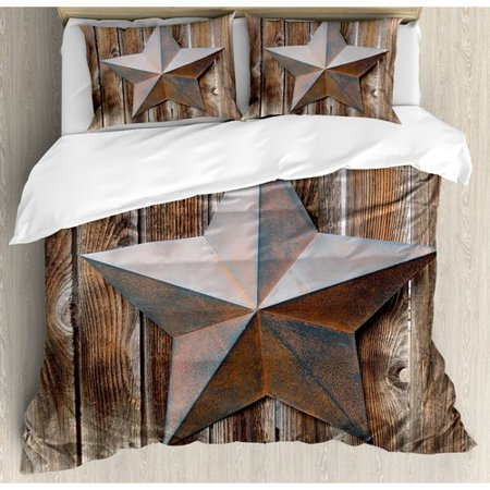 Ambesonne Primitive Country Duvet Cover Set