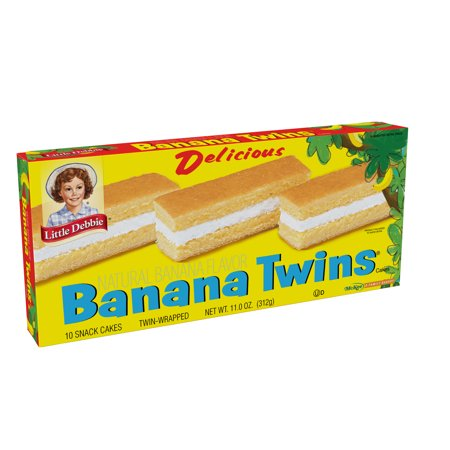 Little Debbie Delicious Natural Flavor Banana Twins 11 oz