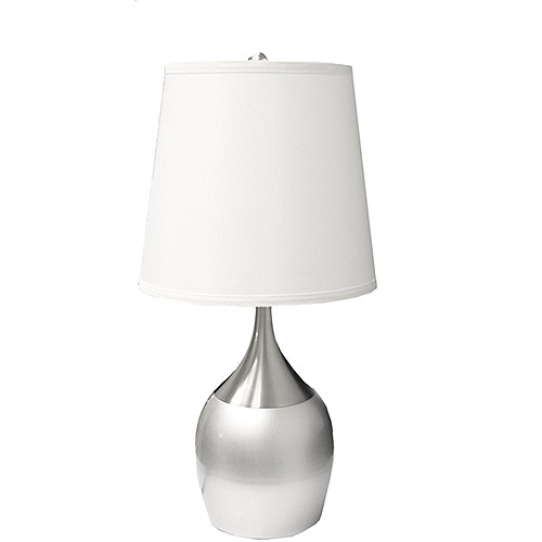 """ORE International 24"""" Touch Table Lamp, Silver"""