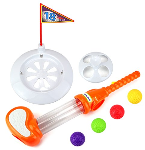Funny Golfers Drop & Play Children Kid's Toy Golf Golfing Playset w  4 Balls, Club,... by Velocity Toys