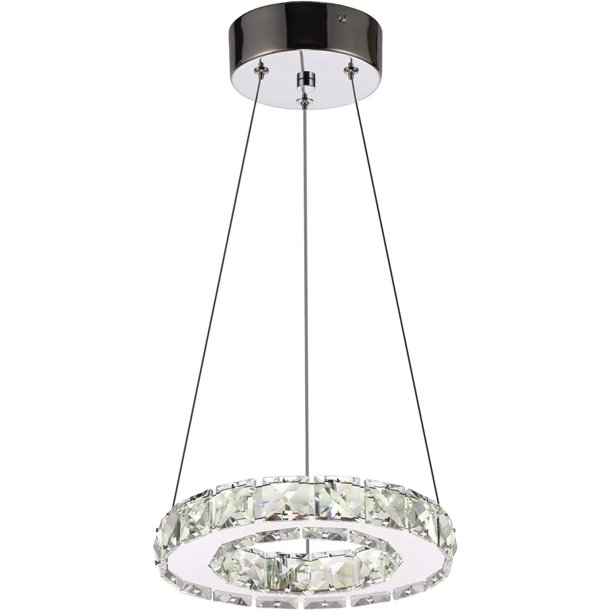 Arxeel Modern Crystal Chandelier Contemporary Led Ceiling Lights Fixtures Pendant Lighting For Living Room Bedroom Restaurant Porch Dining Room One Ring Dia 7 87 Walmart Com Walmart Com