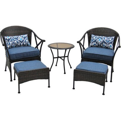 Mainstays Skylar Glen 5 Piece Outdoor Chat Set