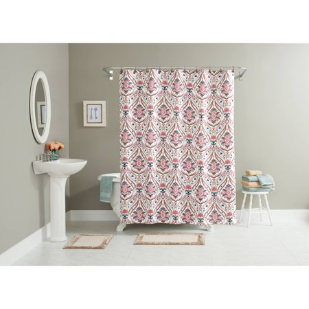 Better homes and gardens jeweled paisley 15 piece bath in a bag set shower curtain and bath for Better homes and gardens shower curtains