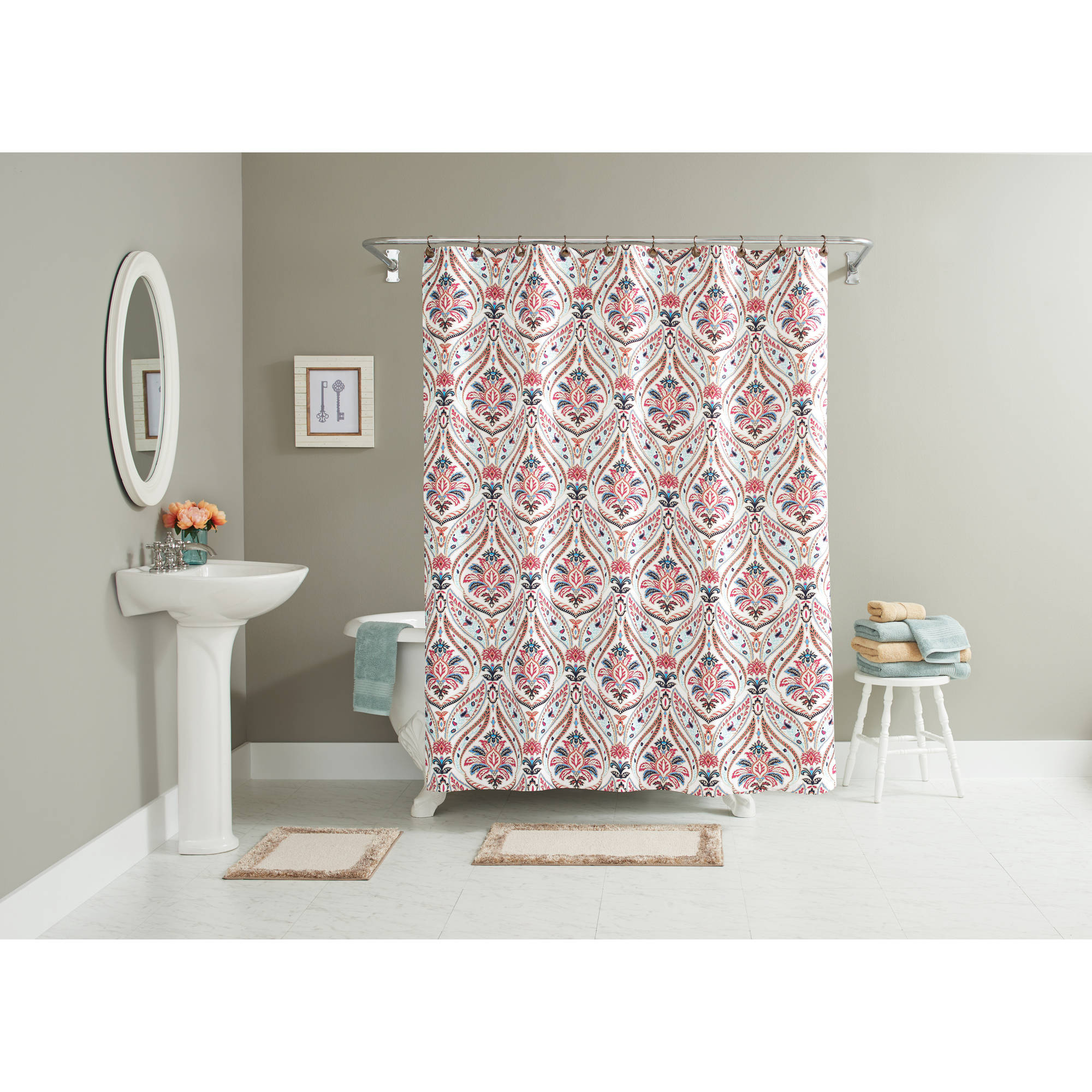 Better Homes And Gardens Jeweled Paisley 15 Piece Bath In A Bag Set, Shower