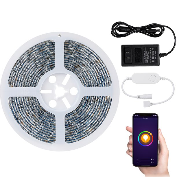 TORCHSTAR DC 12V Waterproof LED Strip Lights for TV, Work with Smart Phone App, Color Changable, Only Support 2.4G