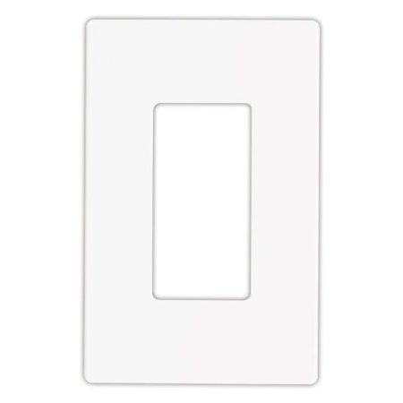 Eaton Wiring Devices ASPIRE 9521 Series 9521WS Mid-Size Wallplate, 1-Gang, Polycarbonate, White ()