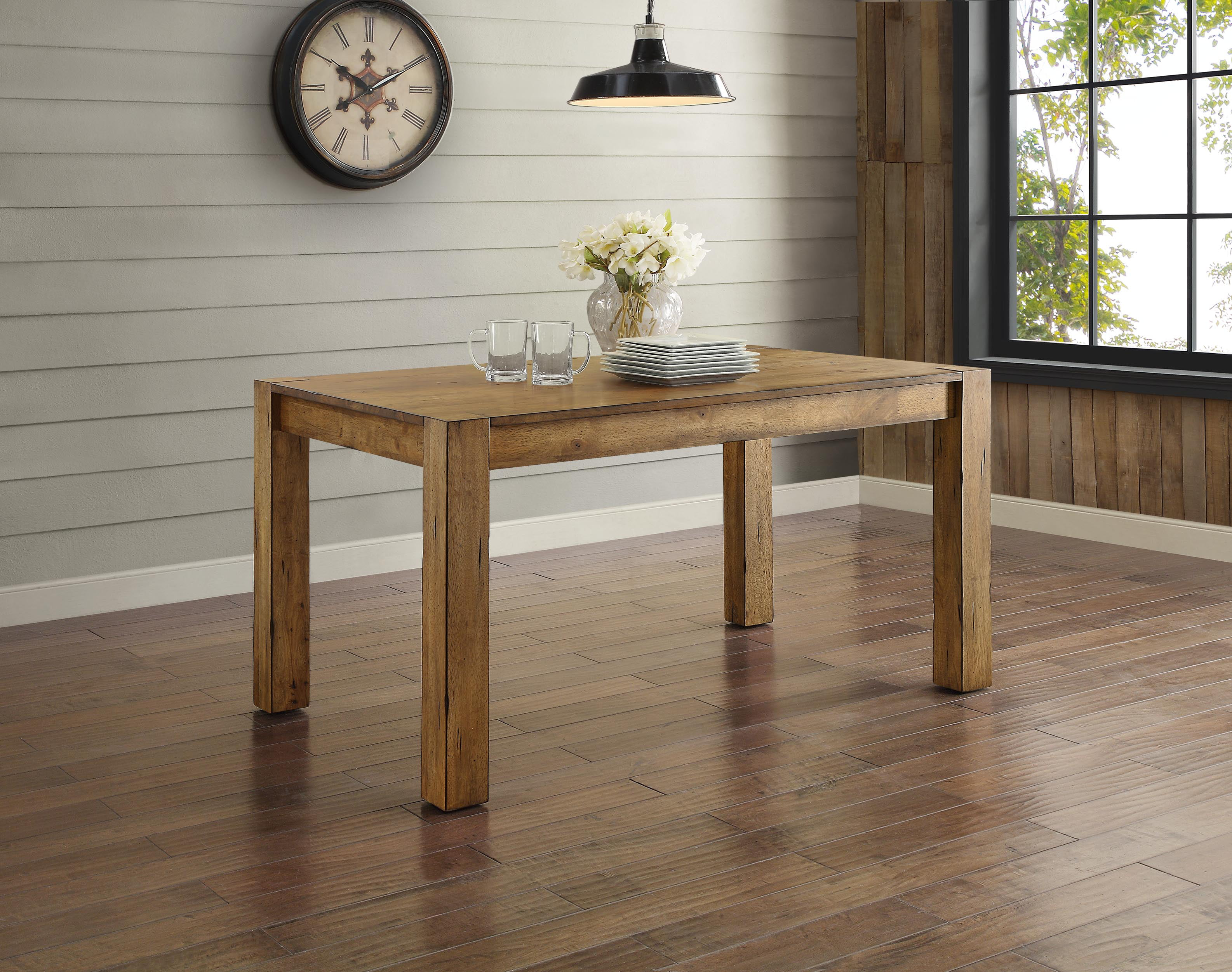 Dining room set rustic - Better Homes And Gardens Bryant Dining Table Rustic Brown Walmart Com