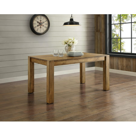 Better Homes and Gardens Bryant Dining Table  Rustic Brown. Better Homes and Gardens Bryant 7 Piece Dining Set  Vintage White