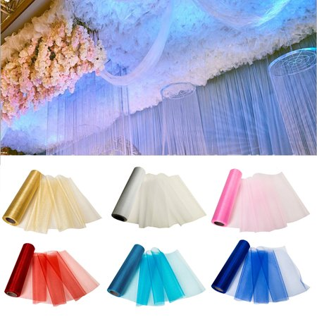 Organza Roll Fabric Bolt Sewing Craft Ribbon Bridal Supplies For Wedding Party Banquet Event](Banquet Supplies)
