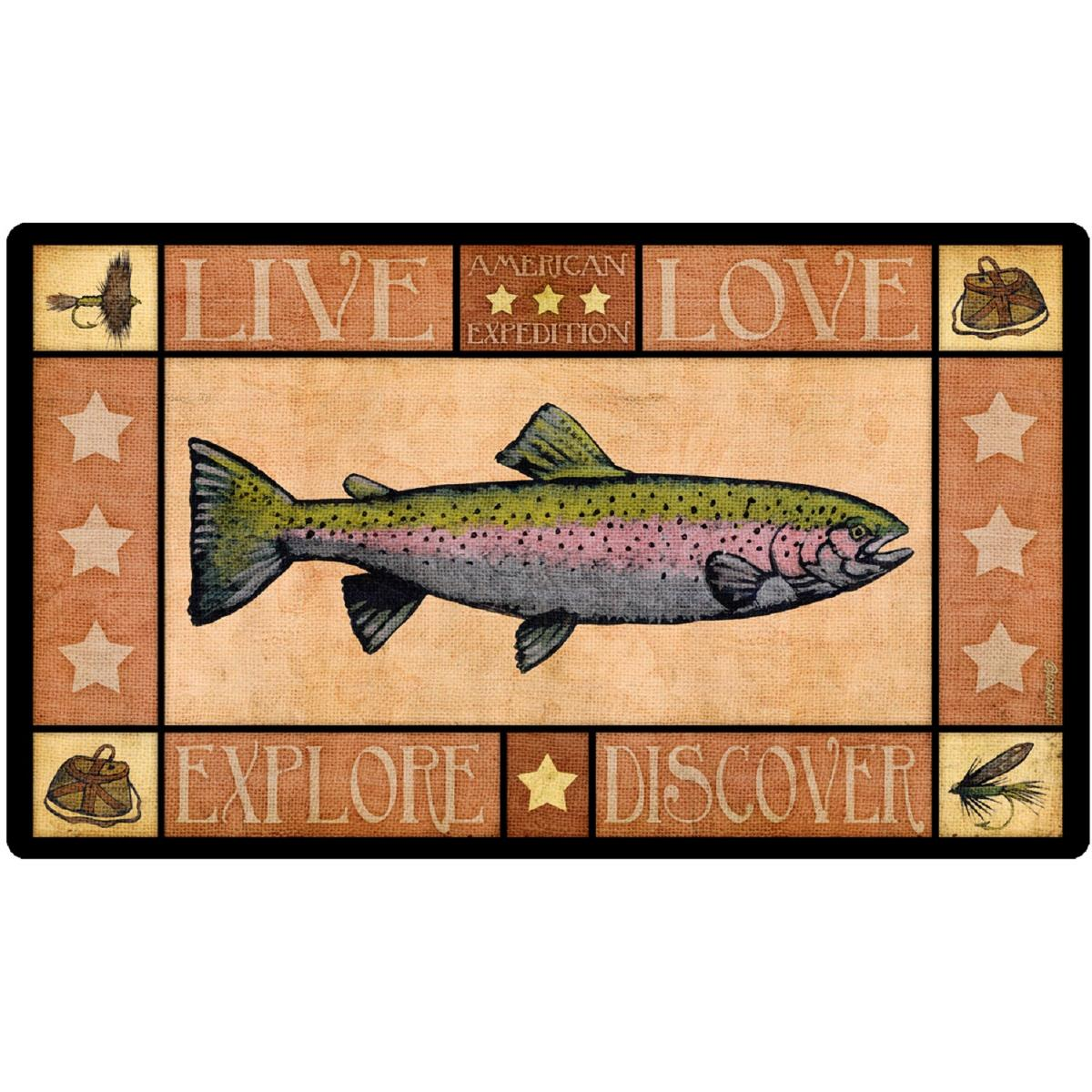 American Expedition Cutting Board - Lodge Series Trout