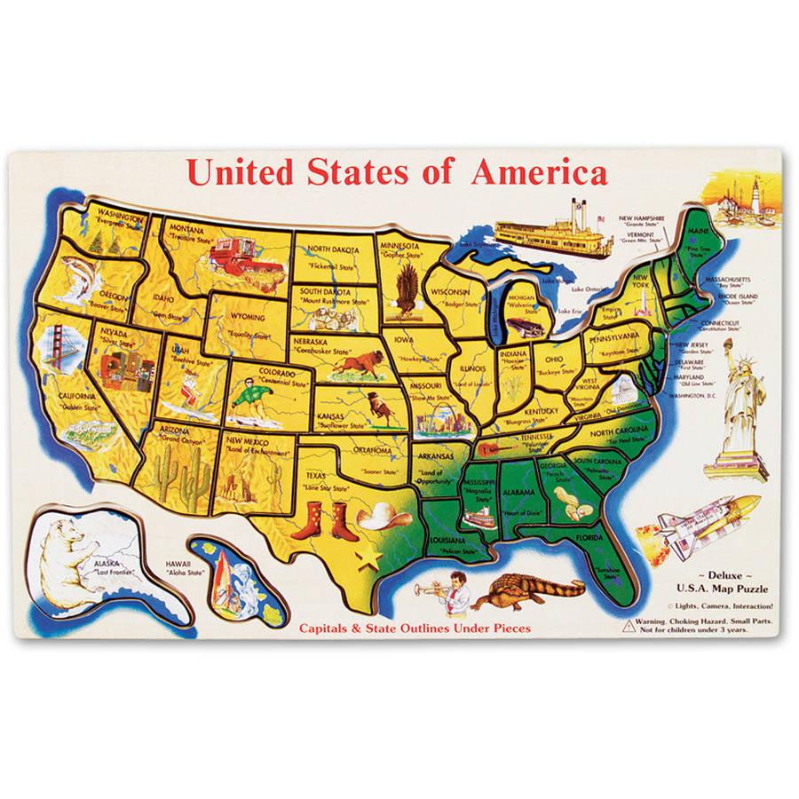 Melissa & Doug USA Map Wooden Puzzle (45 pcs) by Melissa & Doug
